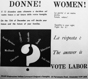 1975 Donne votate Labor