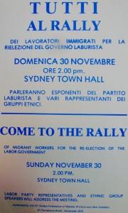 1975 Rally per rielezione laburisti